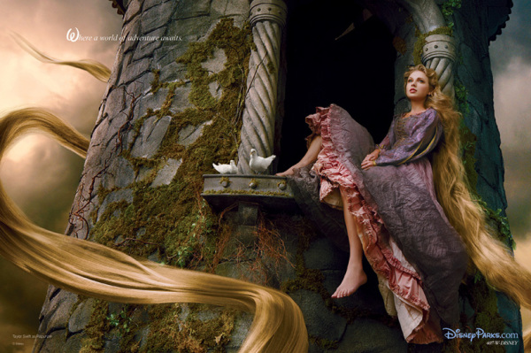 Taylor Swift as Rapunzel by Annie Leibovitz