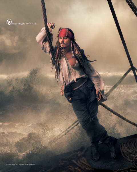 Johnny Depp as Captain Jack Sparrow by Annie Leibovitz