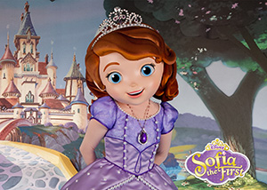 Sofia the First at Hollywood & Vine Play n Dine Character Meals ©Disney