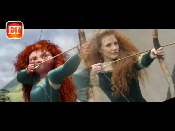 Jessica Chastain as Merida. Photo by Annie Leibovitz. @Disney Source Entertainment Tonight