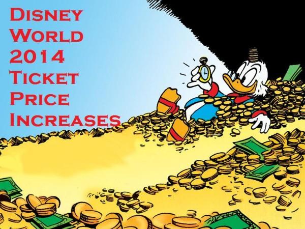Disney World Ticket Price Increases