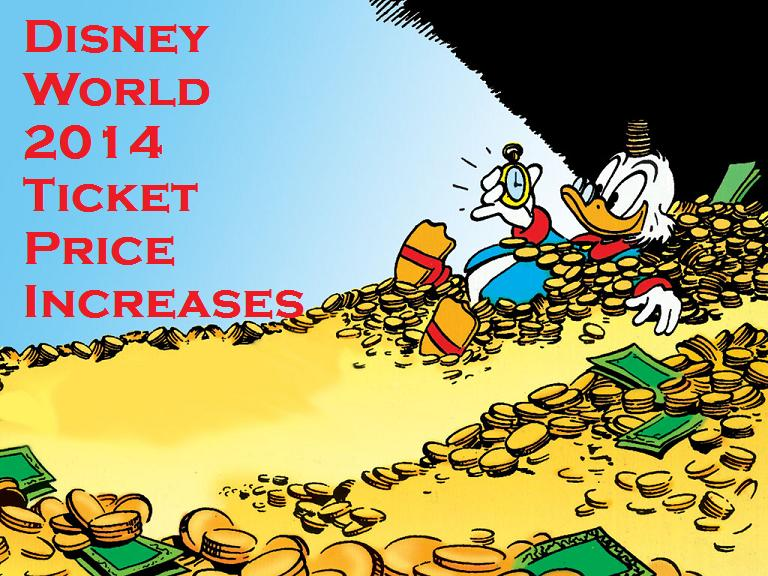 Disney World Increases Ticket Prices for 2014