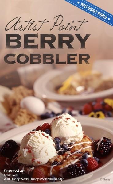Disney Recipe: Artist Point Berry Cobbler ©Disney