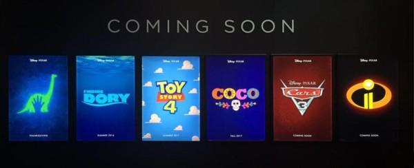 Upcoming Pixar Films