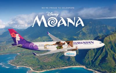 Hawaiian Airlines Launches Moana Themed Aircraft