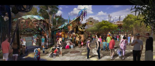 Pandora - World of Avatar courtyard scene ©Disney Click for high-res image